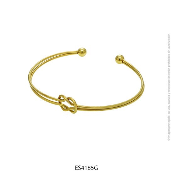 Esclava Acero Dorado Forever 4185G