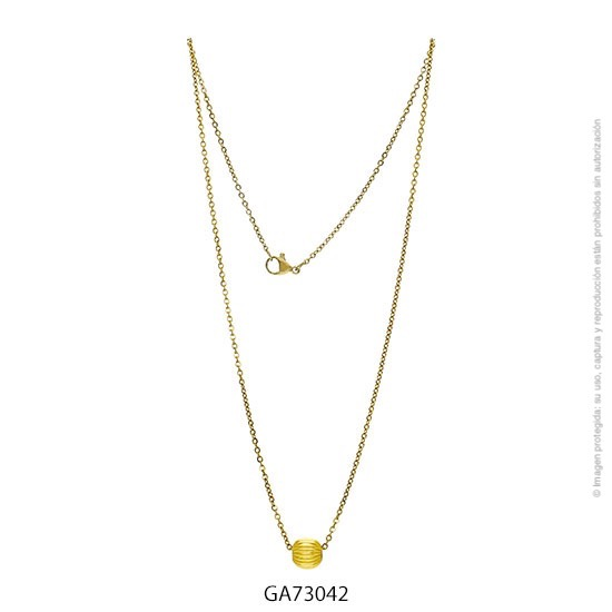 Gargantilla Acero Dorado Forever 73042