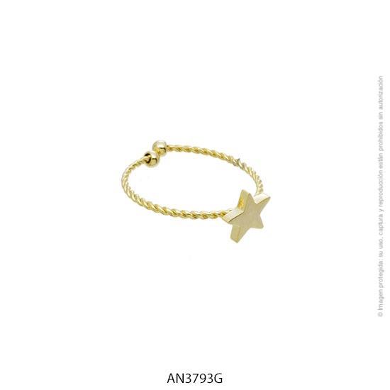 Anillo Acero Dorado Forever 3793G
