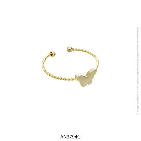 Anillo Acero Dorado Forever 3794G