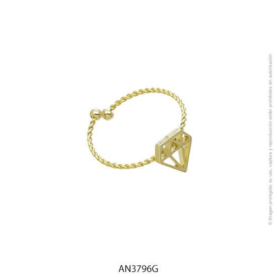 Anillo Acero Dorado Forever 3796G