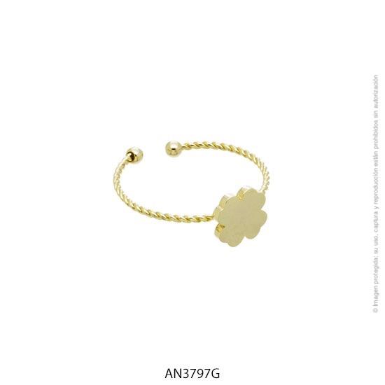 Anillo Acero Dorado Forever 3797G