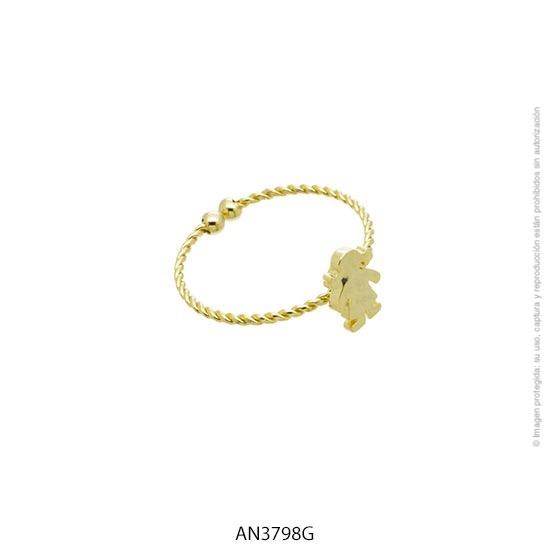 Anillo Acero Dorado Forever 3798G