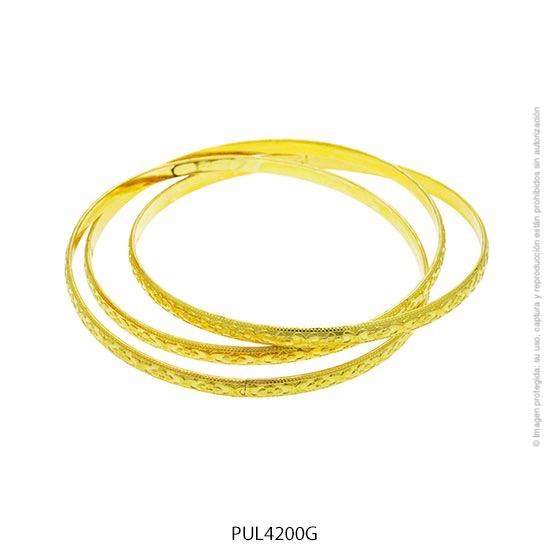 Pulsera Acero Dorado Forever 4200G