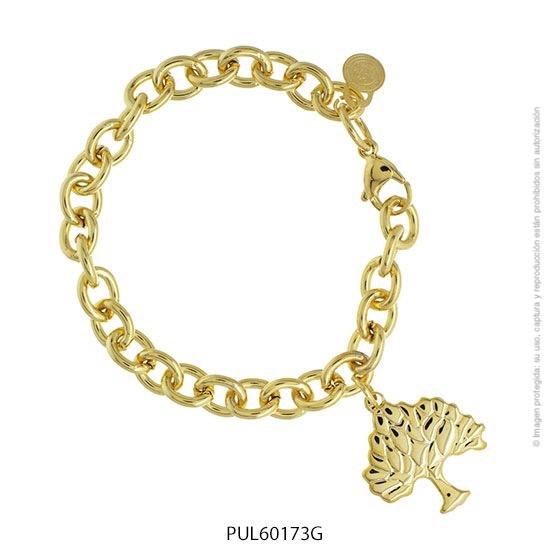 Pulsera Acero Dorado Forever 60173G