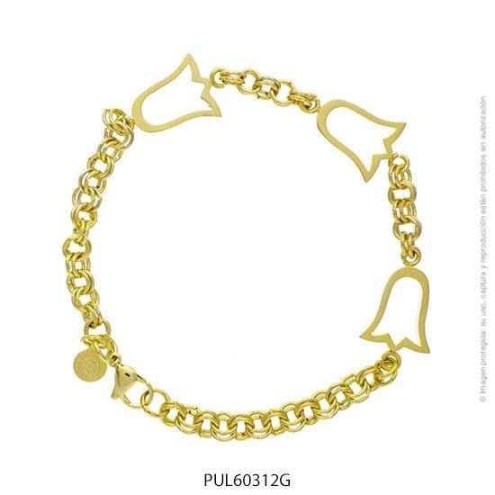 Pulsera Acero Dorado Forever 60312G