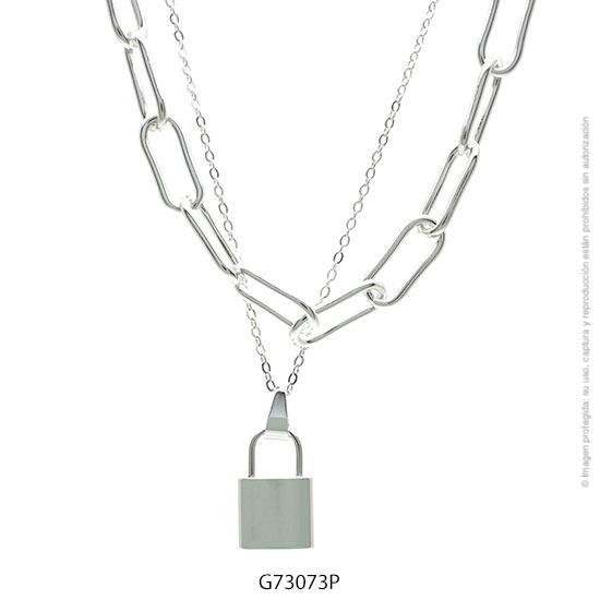 Gargantilla Acero Blanco Forever 73073P